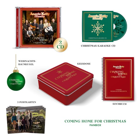 Coming Home For Christmas (Ltd. Fanbox) von Angelo Kelly & Family - Boxset jetzt im Ich find Schlager toll Shop