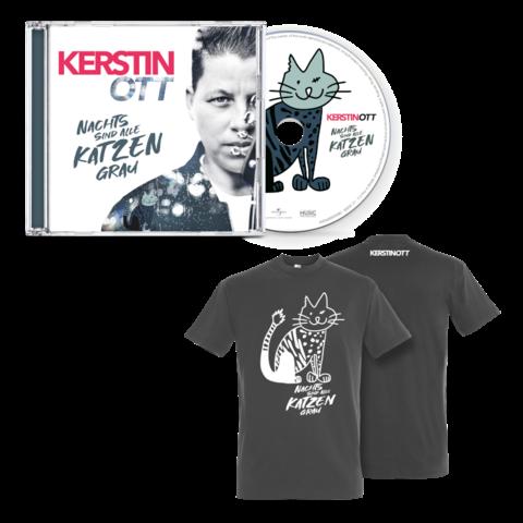 Nachts Sind Alle Katzen Grau (CD + T-Shirt) von Kerstin Ott - CD-Bundle jetzt im Ich find Schlager toll Store