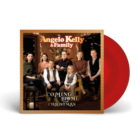 Coming Home For Christmas - 2021 Edition von Angelo Kelly & Family - Limitierte Transparent-Rote Gatefold 180g Vinyl LP jetzt im Ich find Schlager toll Store