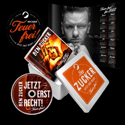 Jetzt Erst Recht! Feuer Frei! (Exklusiv Signierte Limitierte Zuckerdosen Edition) von Ben Zucker - CD-Boxset jetzt im Ich find Schlager toll Store