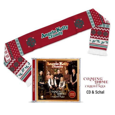 Coming Home For Christmas - X-Mas Bundle von Angelo Kelly & Family - CD + Weihnachtsschal jetzt im Ich find Schlager toll Store
