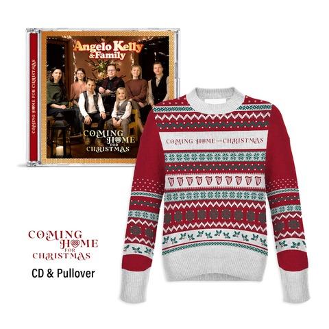 Coming Home For Christmas - X-Mas Bundle von Angelo Kelly & Family - CD + Weihnachtspulli jetzt im Ich find Schlager toll Store