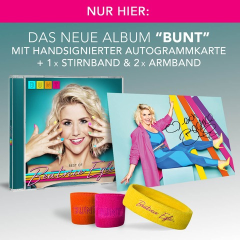 BUNT - Best of (CD mit 6 neuen Songs und den größten Hits + Fanpaket) von Beatrice Egli - CD Bundle jetzt im Ich find Schlager toll Shop