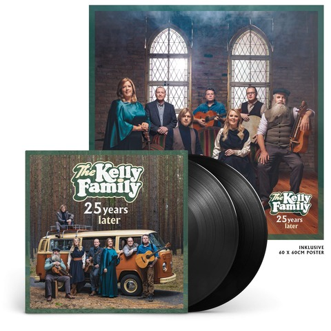 25 Years Later (Ltd. Edition Vinyl) von The Kelly Family - 2LP jetzt im Ich find Schlager toll Shop